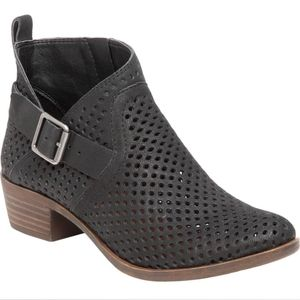 Lucky Brand Bartonn Perforated Bootie with Buckle